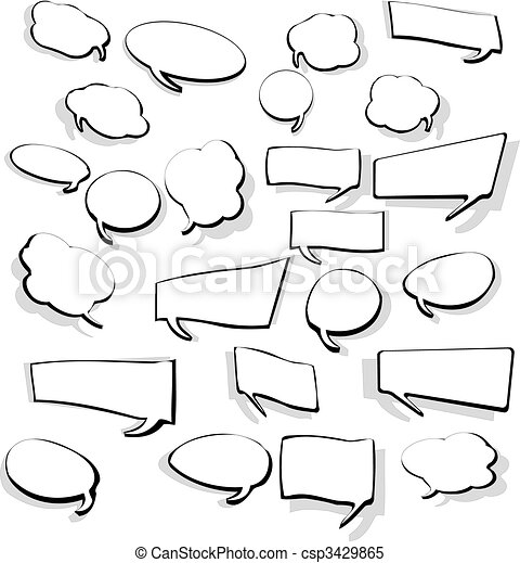 Set of Speech Bubbles - csp3429865