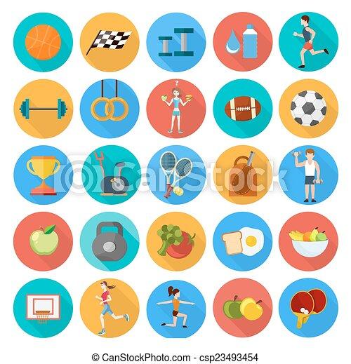 Set of sport icons - csp23493454