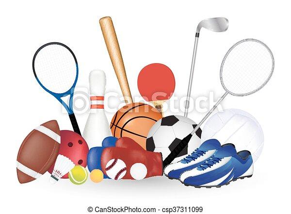 Set Of Sport Object - csp37311099