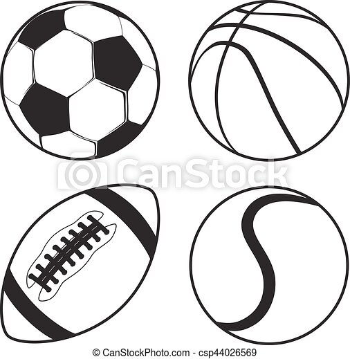 sport balls clipart vector and clip art inspiration