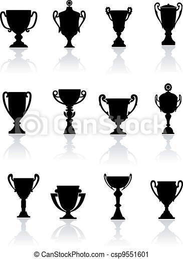 Set of sports trophies - csp9551601