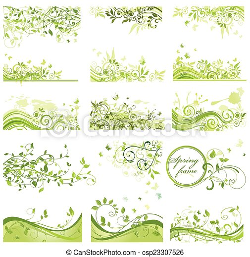 Set of spring backgrounds - csp23307526