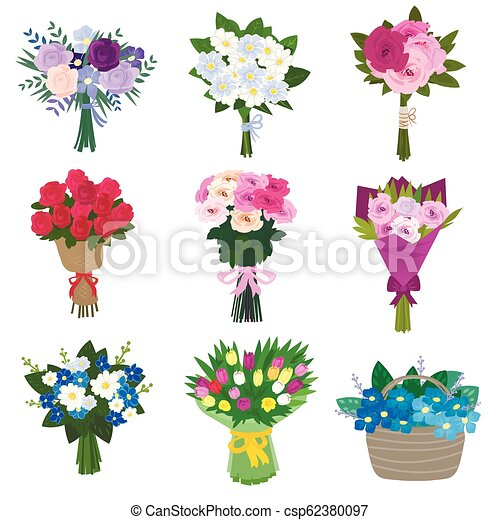 Set of spring flowers - csp62380097