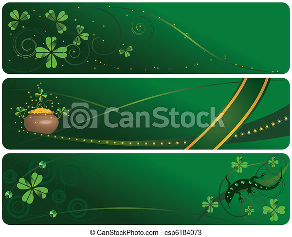 set of St. Patrick's Day banners - csp6184073