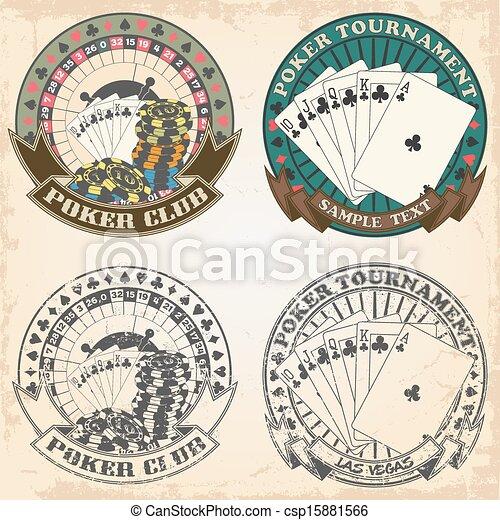 Set of stamps poker club - csp15881566
