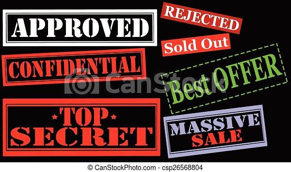 Set of stamps - csp26568804