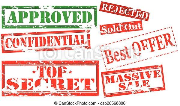 Set of stamps - csp26568806