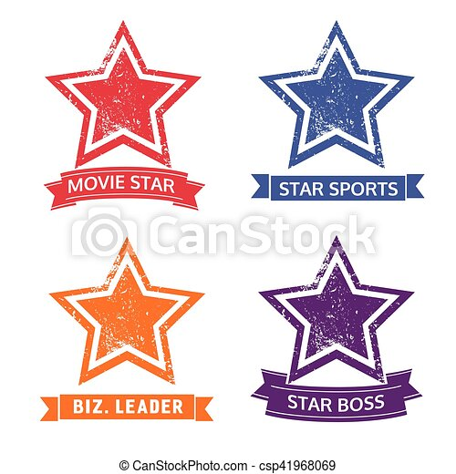 Set of star icons - csp41968069