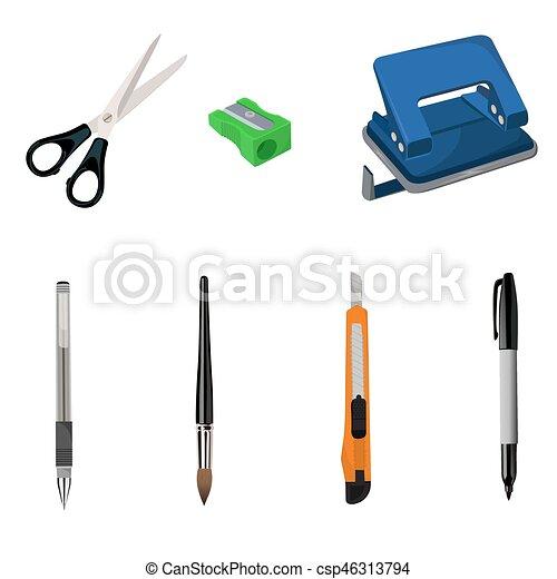 set of stationary, vector illustration - csp46313794