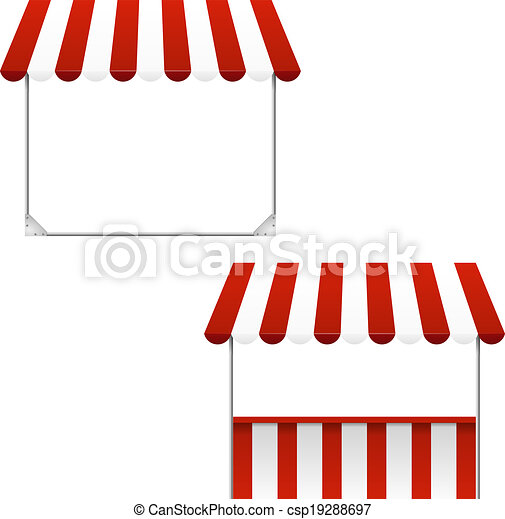 Set of striped awnings - csp19288697