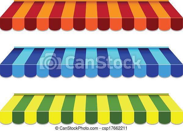 set of striped awnings - csp17662211
