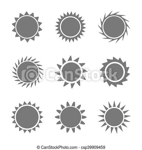 Set of sun icons - csp39909459