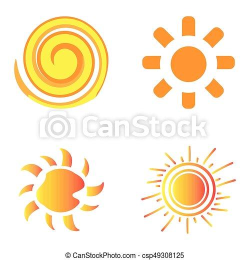 Set of sun icons - csp49308125