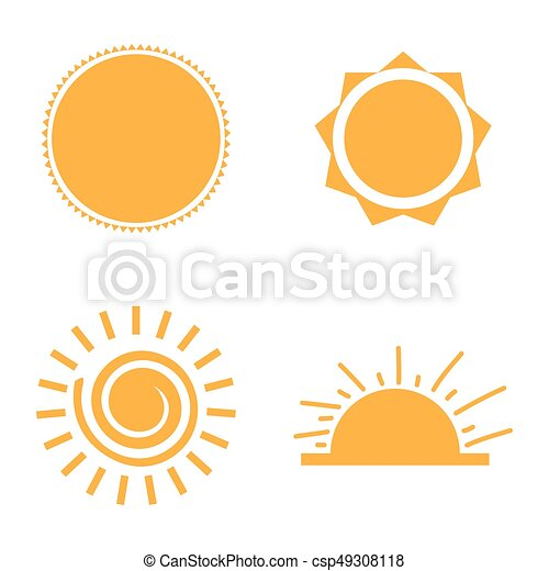 Set of sun icons - csp49308118