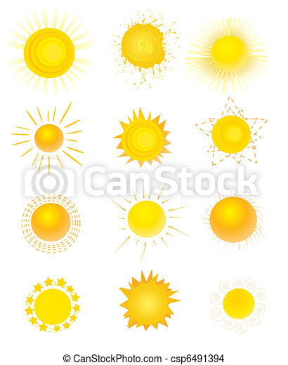 set of sun vector - csp6491394