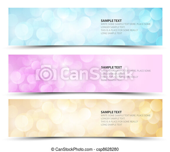 Set of sunny horizontal banners - csp8628280