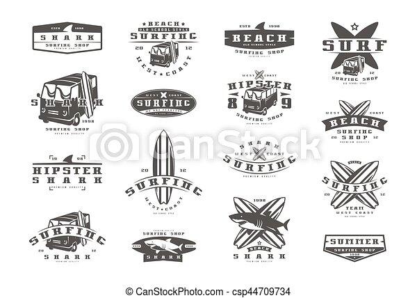 Of Surfing Design T On EmblemsGraphic Print ShirtBlack Set For rxeodCB