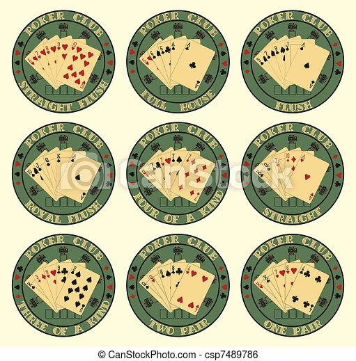 Set of symbol club poker - csp7489786