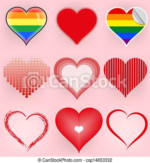 Set of symbol hearts - csp14653332
