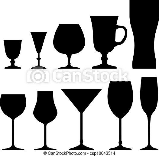 Set of symbols and icons glasses  - csp10043514