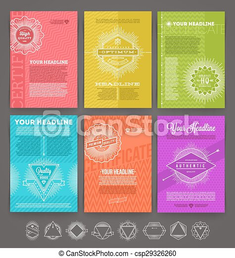 Set of template flyer page design - csp29326260
