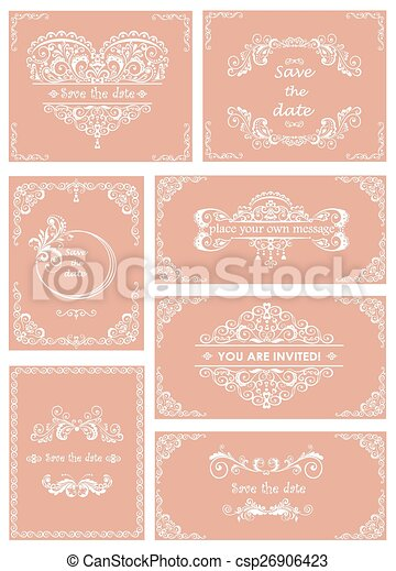 Set of templates for wedding - csp26906423
