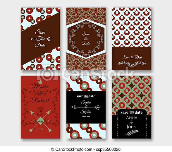 Set of the card templates - csp35500828