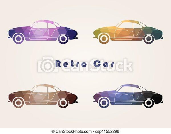 Set of the retro car - csp41552298