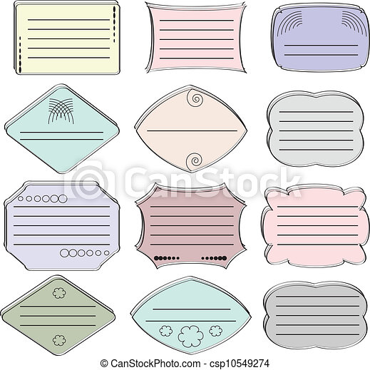 Set of the stickers ,vector. - csp10549274