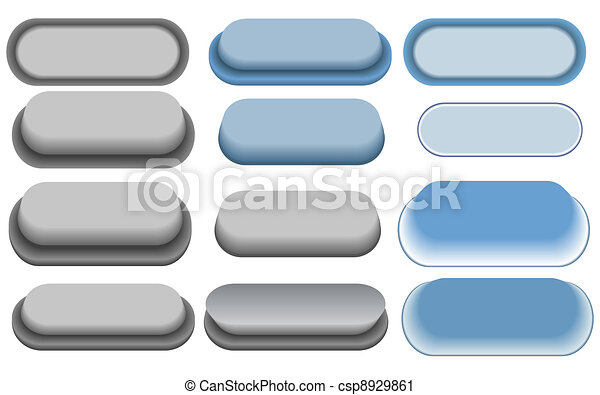 set of the vector buttons - csp8929861