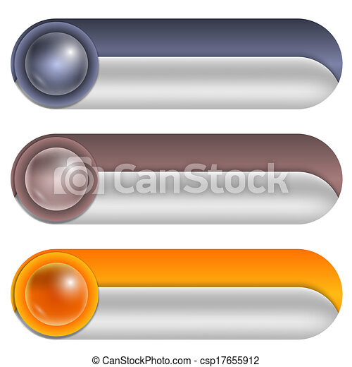 set of three abstract buttons - csp17655912