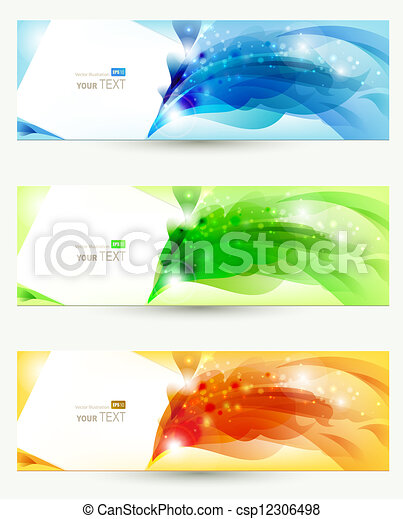 set of three banners - csp12306498
