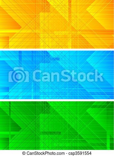 Set of three banners - csp3591554