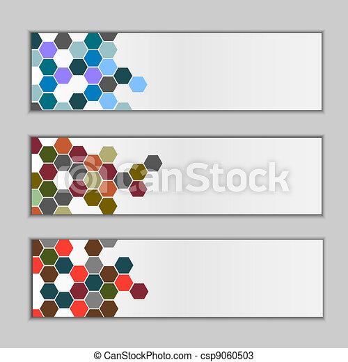 Set of three banners - csp9060503