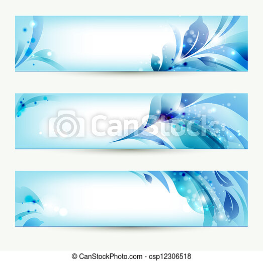 set of three banners - csp12306518