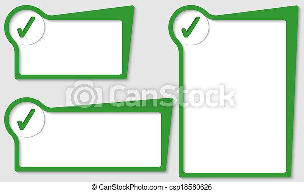 set of three boxes with check box - csp18580626