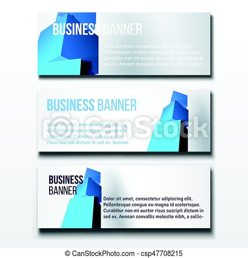 Set of three business banners set of three horizontal business set of three business banners csp47708215 wajeb Image collections