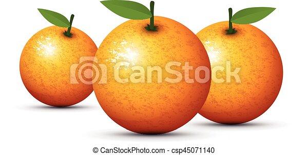 set of three oranges - csp45071140