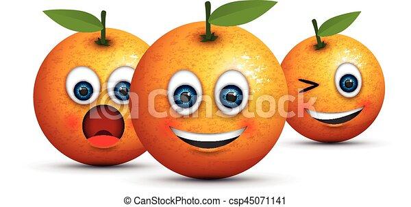set of three oranges - csp45071141