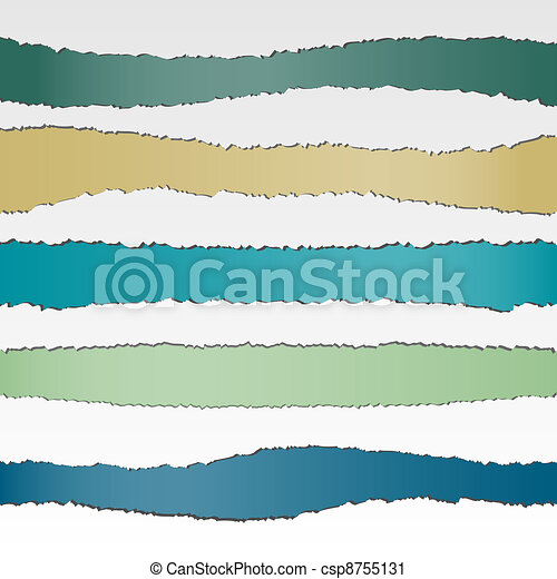 Set of torn paper banners - csp8755131