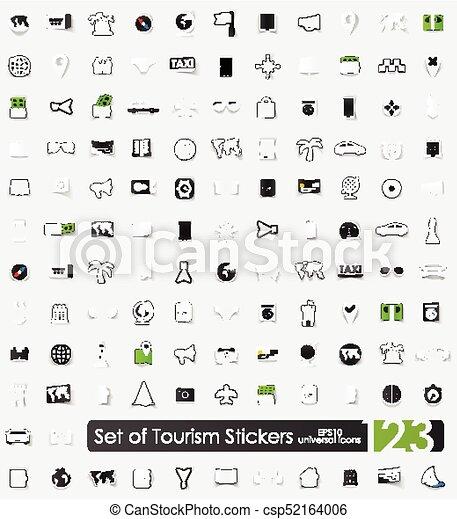Set of tourism stickers - csp52164006