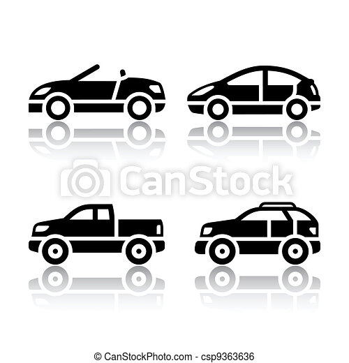 Set of transport icons - cars - csp9363636