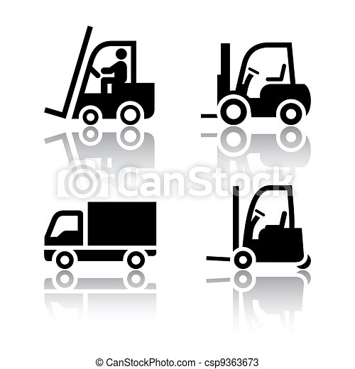 Set of transport icons - loader - csp9363673