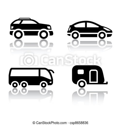 Set of transport icons - vehicles - csp8658836