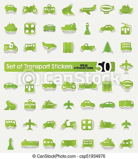 Set of transport stickers - csp51934976