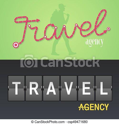 Set of travel company vector logo, icon