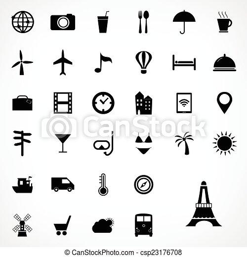 Set of travel icons design, Vector illustration. - csp23176708