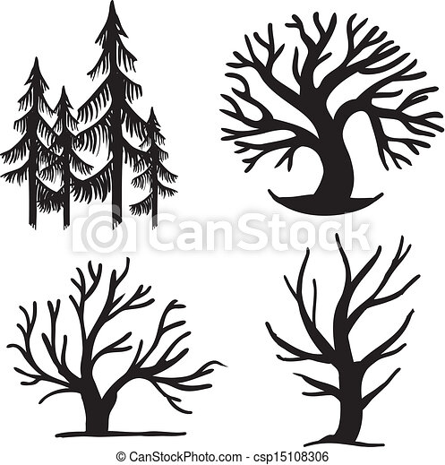 set of trees set of different trees simple signs vector clipart rh canstockphoto com trees victoria bc trees victoria bc