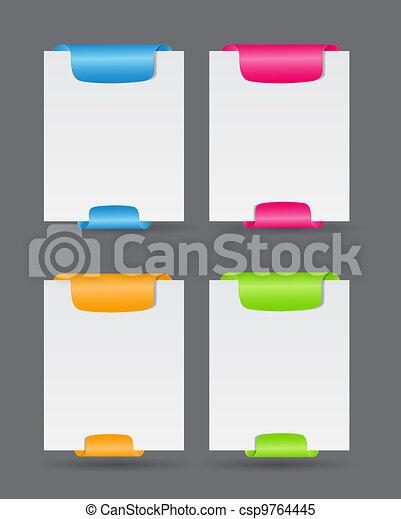 Set of trendy web banners vector illustration - csp9764445