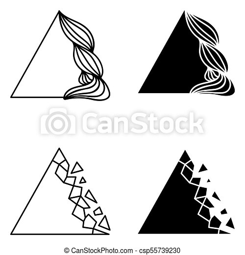 Set of triangle abstract logo elements. - csp55739230